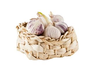 Garlic in a small basket