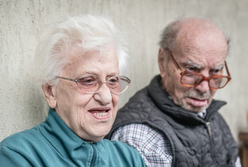 old couple portrait