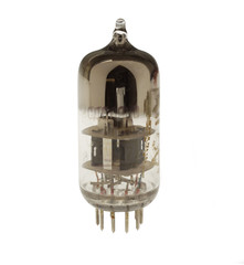 Old vacuum tube isolated on the white background