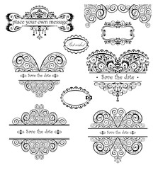 Wedding vintage headers