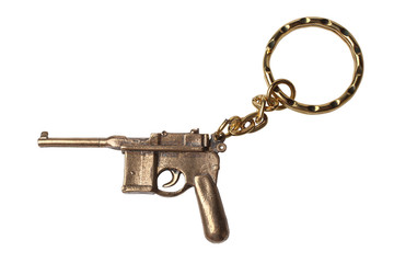 Trinket for the keys as a Pistol Mauser