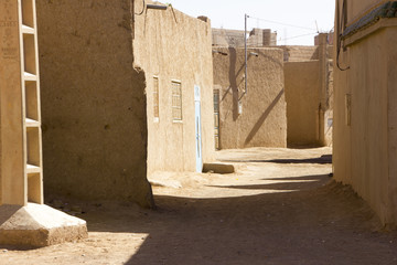 Lonely Street In Merzouga Village