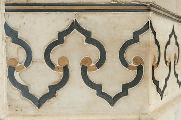 detail decorative of taj mahal, India