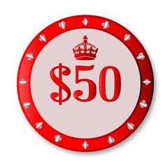 50 Dollar Chip