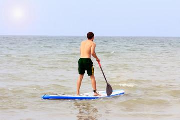 activité de plage Paddle