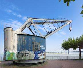 vintage harbor crane