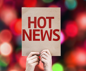 Hot News card with colorful background