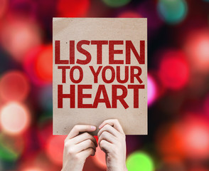 Listen To Your Heart card with colorful background