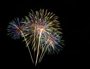 fireworks in the dark sky background