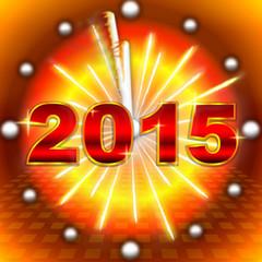 New Year clock 2015