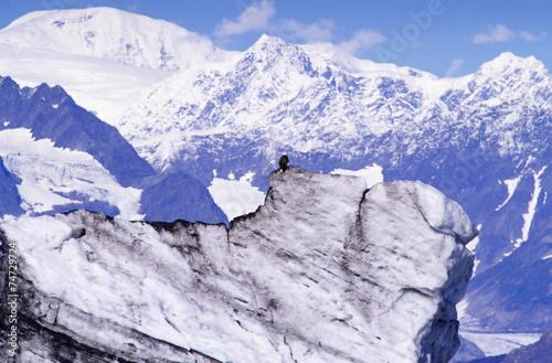 Fotobehang Purper mountainous landscape