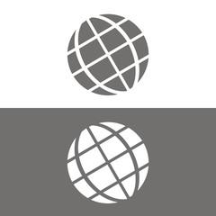 Icono globo tierra BN
