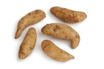 Fresh raw kipfler potatoes