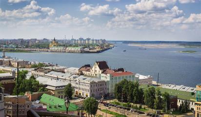 Сonfluence of the Volga and the Oka. Nizhny Novgorod. Russia