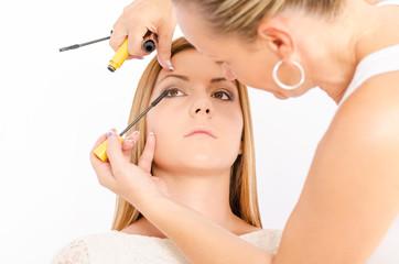 Make up artist at work