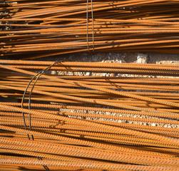 Baumaterial Stahlstangen