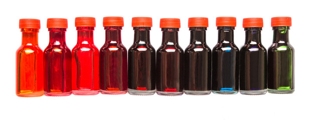 Different color variety of liquid food color additives