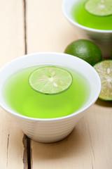 green lime lemonade