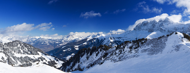 Panorama of the Chablais Alps
