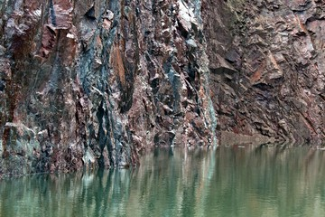 Old quarry water