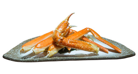 Boiled giant crab isolated on white background