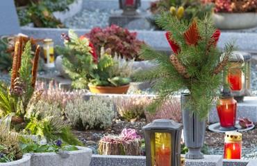 Stimmige Friedhofsszene