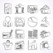 Business, finance and bank icons - vector icon set