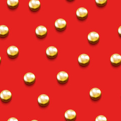 Seamless pattern with golden beads