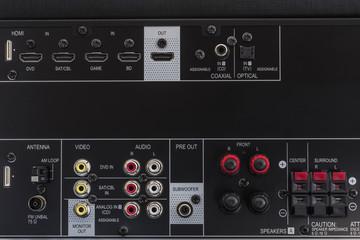 AV amplifier back side