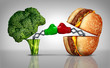 Leinwanddruck Bild - Food Fight