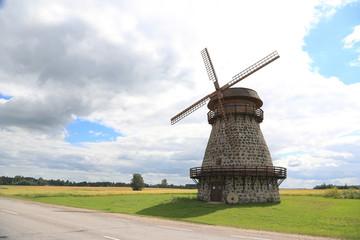 alte Windmühle in Estland