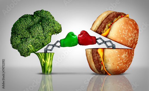 Leinwandbild Motiv Food Fight