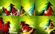 Set of colorful shiny Chrismas cards