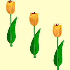 Seamless floral pattern tulips