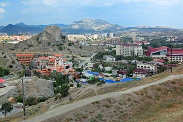 Sudak cityscape, republic Crimea