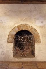 The old fireplace, Genoese fortress, republic Crimea