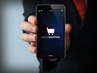 businessman online shopping