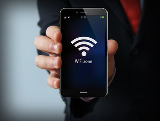 businessman wifi zone