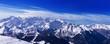 Leinwanddruck Bild - View of Mont Blanc from Verbier