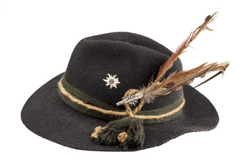 Tyrolean hat with a feather