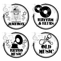 4 stamps old music
