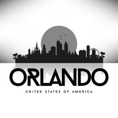 Orlando USA Skyline Silhouette Black vector