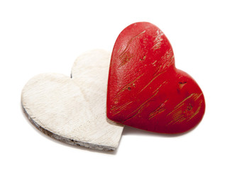 coeurs rouge et blanc de saint Valentin