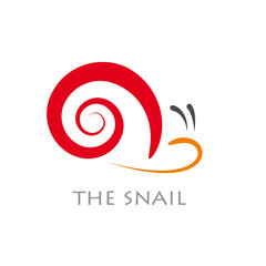 Vector sign abstract snail