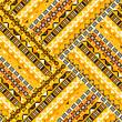 Geometric tribal pattern