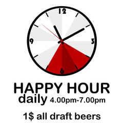 Happy hour concept with clock
