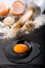 The process of baking dumplings