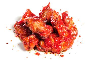 chicken wings in raspberry sauce