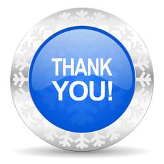 thank you blue icon, christmas button
