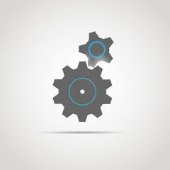 Gear icon with two gears